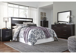 Agella Merlot Queen/Full Panel Headboard w/Dresser & Mirror