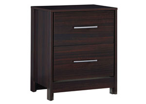 Agella Merlot Two Drawer Night Stand