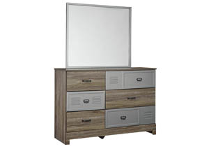 McKeeth Gray Bedroom Mirror