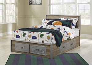 McKeeth Gray Full Storage Bed