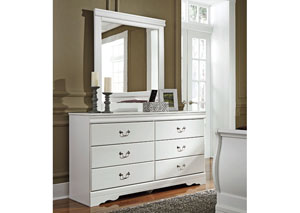 Anarasia White Bedroom Mirror