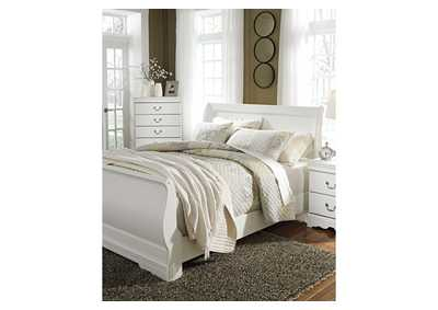 Anarasia White King Sleigh Bed,Signature Design By Ashley