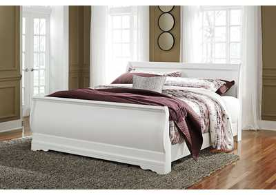 Anarasia White King Sleigh Bed