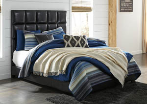 Queen Dark Brown Upholstered Bed,Signature Design By Ashley