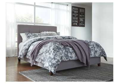 Dolante Gray King Upholstered Platform Bed