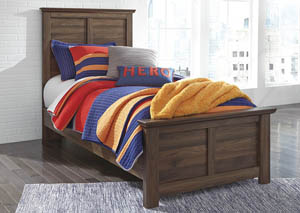 Burminson Brown Twin Panel Bed