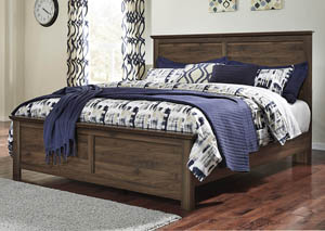 Burminson Brown King Panel Bed,Signature Design by Ashley