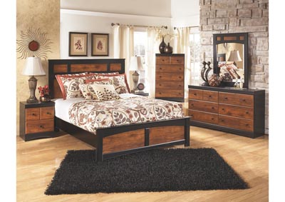 Aimwell Queen Panel Bed w/Dresser, Mirror & Drawer Chest