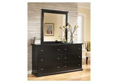 Maribel Black Bedroom Mirror