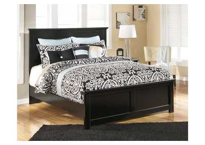 Maribel Black King Panel Bed