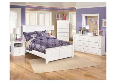 Bostwick Shoals Full Panel Bed w/Dresser, Mirror, Drawer Chest & 2 Nightstands
