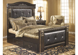 Coal Creek King Mansion Storage Bed