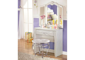 Zarollina Vanity w/ Mirror & Stool,Signature Design by Ashley