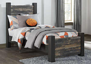 Westinton Black/Brown Twin Poster Bed,Signature Design by Ashley