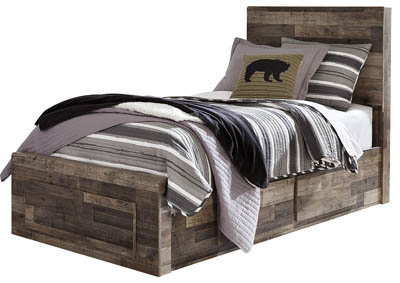 Derekson Multi Gray Twin Storage Bed