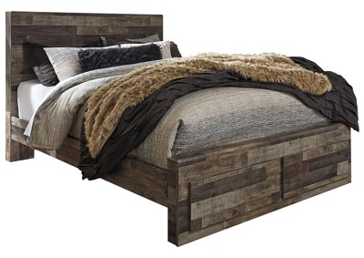 Derekson Multi Gray Queen Platform Bed