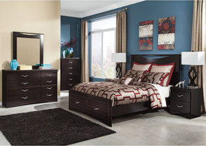 Zanbury Queen Panel Storage Bed, Dresser & Mirror,Signature Design by Ashley