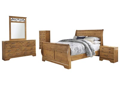Bittersweet Light Brown Queen Sleigh Bed w/Dresser & Mirror,Signature Design By Ashley