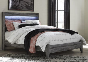 Baystorm Gray Queen Panel Bed