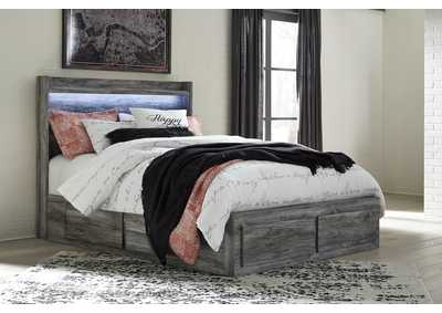 Baystorm Gray Queen Storage Bed