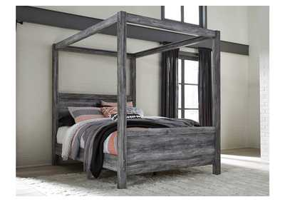 Baystorm Gray Queen Canopy Bed