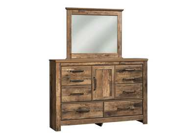 Blaneville Brown Bedroom Mirror