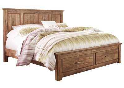 Blaneville Brown King Storage Platform Bed