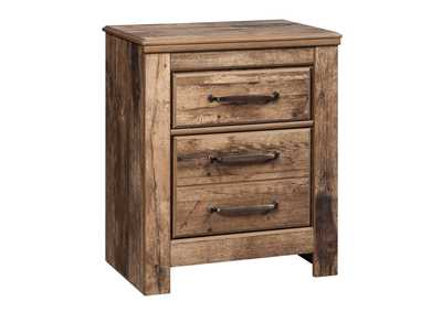 Blaneville Brown 2 Drawer Nightstand