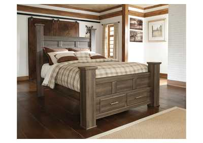 Juararo California King Poster Storage Bed