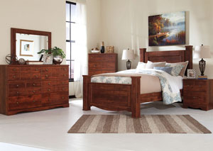 Brittberg Reddish Brown Queen Poster Bed
