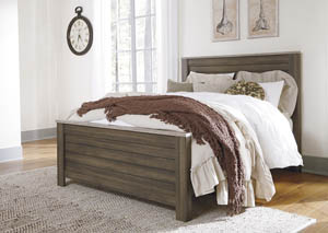 Birmington Brown Queen Panel Bed