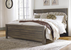 Birmington Brown California King Panel Bed