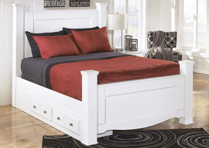 Weeki Queen Poster Storage Bed