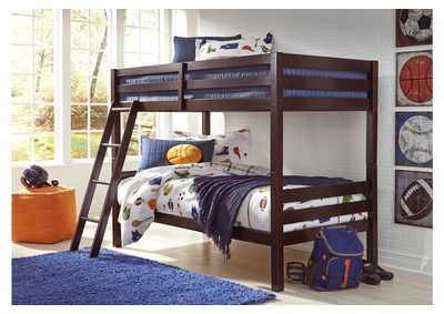 Halanton Dark Brown Twin/Twin Bunkbed