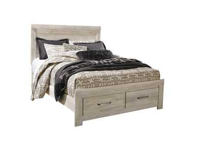 Bellaby Whitewash Queen Platform Storage Bed