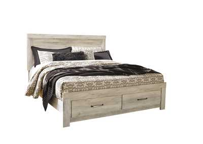 Bellaby Whitewash King Platform Storage Bed
