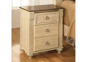 Saveaha Three Drawer Nightstand