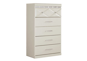 Dreamur Champagne 5 Drawer Chest