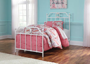 Korabella White Full Metal Bed