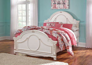 Korabella White Full Panel Bed