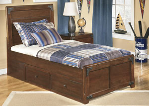 Delburne Full Storage Bed