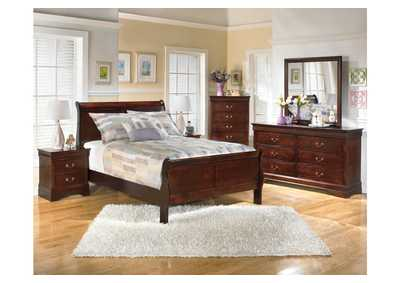Alisdair Full Sleigh Bed w/Dresser, Mirror, Drawer Chest & 2 Nightstands