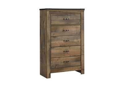 Trinell Brown 5 Drawer Chest