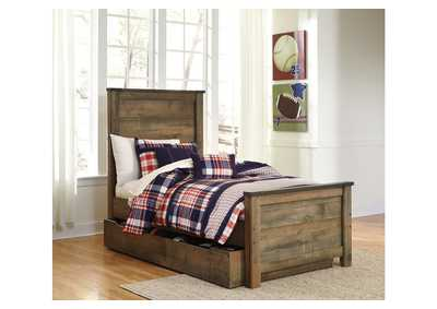 Trinell Brown Twin Panel Storage Bed