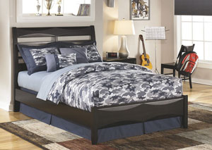 Kira Black Full Panel Bed,Ashley