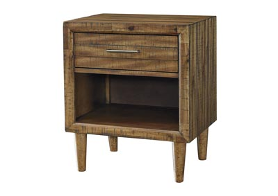 Faradyn Warm Brown 1 Drawer Nightstand
