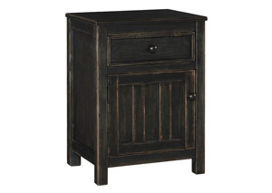 Jaysom Black Nightstand