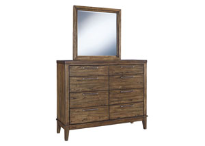 Zilmar Walnut Brown Bedroom Mirror