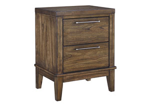 Zilmar Walnut Brown Two Drawer Nightstand