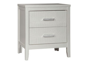 Olivet Silver Two Drawer Nightstand